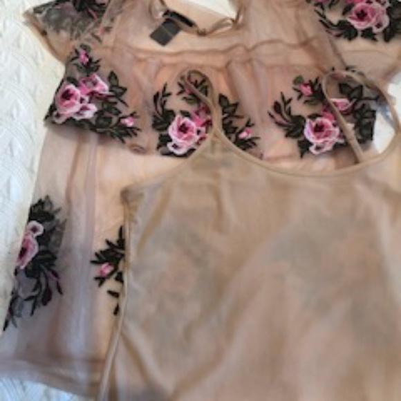 Floral summer blouse - 2 piece